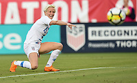 Jacksonville, FL - Thursday April 5, 2018: Megan Rapinoe during an International friendly match versus the women's National teams of the United States (USA) and Mexico (MEX) at EverBank Field.