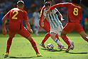 (R-L) Marouane Fellaini (BEL), Lionel Messi (ARG), Axel Witsel, Toby Alderweireld (BEL),<br /> JULY 5, 2014 - Football / Soccer :<br /> FIFA World Cup Brazil 2014 Quarter-finals match between Argentina 1-0 Belgium at Estadio Nacional in Brasilia, Brazil. (Photo by FAR EAST PRESS/AFLO)