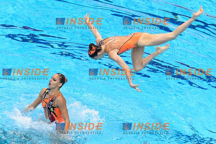 GREECE GRE <br /> ARMAOU Maria Eleni DIPLA Ifigeneia FARANTOURI Valentina GKEORGKIEVA Giana KOUTIDI Evangelia PAPAZOGLOU Evangelia SARANTIDI Sofia TAXOPOULOU Anna Maria <br /> Team Free Preliminary  <br /> London, Queen Elizabeth II Olympic Park Pool <br /> LEN 2016 European Aquatics Elite Championships <br /> Synchronized Swimming <br /> Day 03 10-05-2016<br /> Photo Andrea Staccioli/Deepbluemedia/Insidefoto