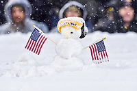 PHILADELPHIA, PA - DEC 9, 2017: A Army Black Knights fans created a snowman in the stands during game between Army and Navy at Lincoln Financial Field Philadelphia, PA. Army defeated Navy 14-13 to win the Commander in Chief Cup. (Photo by Phil Peters/Media Images International)