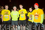 l-r  Sean Lyons, Michael King, Drogheda, Carl Johnson, Alannah Bradley and Tadhg  Fleming at the Darkness Into Light Tralee at CBS the Green on Saturday