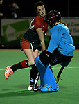 Action from the National Women's Association Under-18 Hockey Tournament match between Wairarapa and Bay Of Plenty at Twin Turfs in Clareville, New Zealand on Friday, 14 July 2017. Photo: Dave Lintott / lintottphoto.co.nz