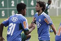 SÃO PAULO, SP, 11 JANEIRO DE 2013  - TREINO PALMEIRAS - o jogador Valdivia durante treinamento na Academia de Futebol, na manha dessa sexta-feira, 11, Barra Funda, zona oete  da capital -   FOTO LOLA OLIVEIRA - BRAZIL PHOTO PRESS