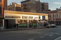 A store in the Rite Aid drugstore chain in the Chelsea neighborhood of New York City is seen on Saturday, February 4, 2017. Rite Aid and Walgreens Boots Alliance have recently forged a new agreement with Walgreens buying Rite Aid for $2 less per share. (© Richard B. Levine)