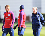 England's Harry Kane with Roy Hodgson during training at the Tottenham Hotspur Training Centre.  Photo credit should read: David Klein/Sportimage
