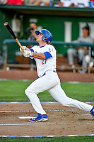 Pioneer League All-Star DJ Peters (27) of the Ogden Raptors at bat against the Northwest League All-Stars at the 2nd Annual Northwest League-Pioneer League All-Star Game at Lindquist Field on August 2, 2016 in Ogden, Utah. The Northwest League defeated the Pioneer League 11-5.  (Stephen Smith/Four Seam Images)