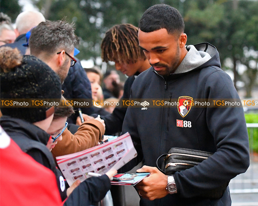 Callum Wilson of AFC Bournemouth signs an autograph and could well start after coming back from injury during AFC Bournemouth vs Middlesbrough, Caraboa Cup Football at the Vitality Stadium on 24th October 2017