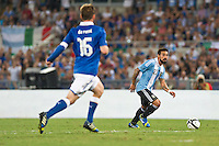 Argentina beats Italy 2-1 during the international friendly between Italy vs Argentina at Stadio Olimpico, in Rome, on August 14, 2013 in Rome. In the photo: Ezequiel Lavezzi Argentina. Photo: Adamo Di Loreto/BuenaVista*photo
