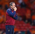 George Burley puzzles during the match