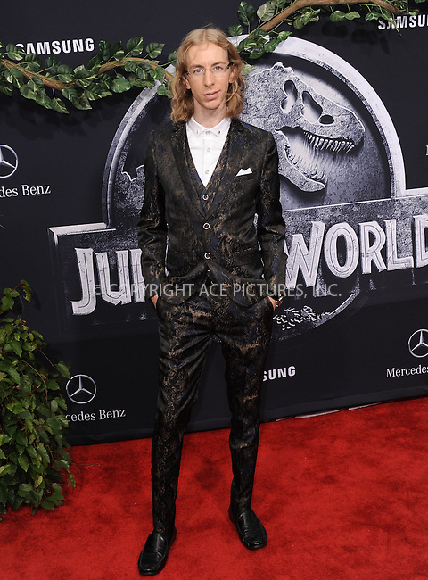 WWW.ACEPIXS.COM<br /> <br /> June 9 2015, LA<br /> <br /> Colby Boothman arriving at the world premiere of 'Jurassic World' at the Dolby Theatre on June 9, 2015 in Hollywood, California. <br /> <br /> <br /> By Line: Peter West/ACE Pictures<br /> <br /> <br /> ACE Pictures, Inc.<br /> tel: 646 769 0430<br /> Email: info@acepixs.com<br /> www.acepixs.com