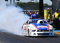 Sept. 22, 2013; Ennis, TX, USA: NHRA pro stock driver Larry Morgan during the Fall Nationals at the Texas Motorplex. Mandatory Credit: Mark J. Rebilas-