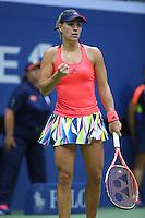 FLUSHING NY- SEPTEMBER 10: Angelique Kerber Vs Karolina Pliskova during the womens finals on Arthur Ashe Stadium at the USTA Billie Jean King National Tennis Center on September 10, 2016 in Flushing Queens. Photo by MPI04/MediaPunch