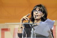 Roma, 4 Ottobre 2014<br /> Piazza Santi Apostoli<br /> Manifestazione di Sinistra, Ecologia e Libertà per una nuova politivca economica, contro l'austerity.<br /> <br /> Norma Rangeri direttora de Il Manifesto.