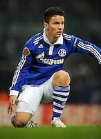 FUSSBALL   EUROPA LEAGUE   SAISON 2011/2012  SECHZEHNTELFINALE FC Schalke 04 - FC Viktoria Pilsen                          23.02.2012 Alexander Baumjohann (FC Schalke 04)