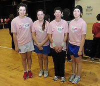 17th November 2013; Niamh McCarthy, Niamh Neyreg, Bairbre Hanley, Ella Donlan. She's Ace - Women in handball event, Breaffy House Sports Arena, Castlebar, Co Mayo. Picture credit: Tommy Grealy/actionshots.ie.