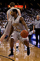 11 February 2012: Joe Ragland #1 of the Wichita State Shockers had 24 points, brings the ball down against the Creighton Bluejays at the CenturyLink Center in Omaha, Nebraska. Wichita State defeated Creighton 89 to 68.