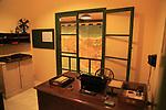Office and map planning invasion of Sicily, Lascaris War Rooms underground museum, Valletta, Malta
