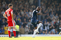 during the Sky Bet League 1 match between Southend United and MK Dons at Roots Hall, Southend, England on 21 April 2018. Photo by Carlton Myrie.