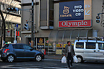 March 17th, 2011. A car waits for a pedestrian to cross as traffic lights in Chiba are switched off as part of a rotating power blackout in the greater Tokyo area. People's lives have been disrupted in the greater Tokyo area as Tokyo Electric Power Co. began its first-ever rolling blackout to help prevent an unexpected large-scale power outage after a powerful earthquake shut two nuclear plants indefinitely on Friday 11th March...