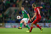 Northern Ireland's Corry Evans in action   <br /> <br /> <br /> Photographer Craig Mercer/CameraSport<br /> <br /> FIFA World Cup Qualifying - European Region - Group C - Northern Ireland v Czech Republic - Monday 4th September 2017 - Windsor Park - Belfast<br /> <br /> World Copyright &copy; 2017 CameraSport. All rights reserved. 43 Linden Ave. Countesthorpe. Leicester. England. LE8 5PG - Tel: +44 (0) 116 277 4147 - admin@camerasport.com - www.camerasport.com