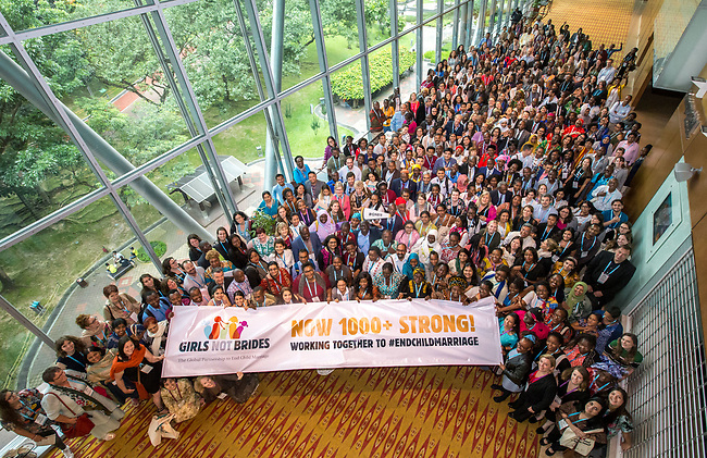 25 June, 2018, Kuala Lumpur, Malaysia : Participants gather together on the opening day at the Girls Not Brides Global Meeting 2018 at the Kuala Lumpur Convention Centre, Malaysia. Picture by Graham Crouch/Girls Not Brides