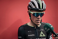 Serge Pauwels (BEL/Dimension Data) interviewed after having animated this very active, hilly stage<br /> <br /> 104th Tour de France 2017<br /> Stage 8 - Dole &rsaquo; Station des Rousses (187km)