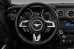 Car pictures of steering wheel view of a 2018 Ford Mustang EcoBoost 2 Door Coupe