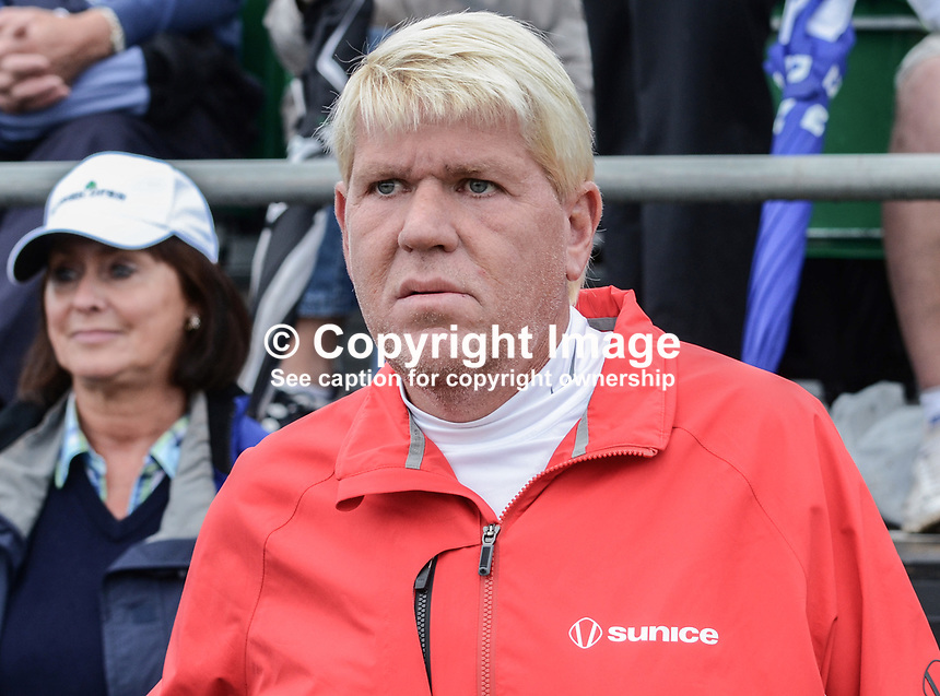 John Daly, professional golfer, USA, 201206270268. Photo taken 27th June 2012 on the first tee, Pro-Am competition, Irish Open Championship, Royal Portrush Golf Club, N Ireland...© Victor Patterson, 54 Dorchester Park, Belfast, N Ireland. Tel: +44 2890661296; Mobile: +44 7802 353836; Emails: victorpatterson@me.com & victorpatterson@gmail.com; www.victorpatterson.com