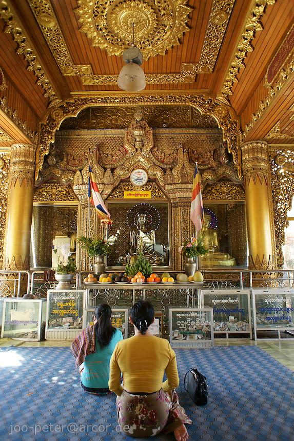 temple of Buddha Kakusandha, Shwedagon pagoda complex, Yangon, Myanmar, 2011