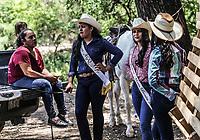 Las reimas del festival durante la cabalgara Maria Bonita. . <br /> IV Festival Maria Bonita en Quiriego, Sonora.