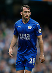 Christian Fuchs of Leicester City during the English Premier League match at the Etihad Stadium, Manchester. Picture date: May 13th 2017. Pic credit should read: Simon Bellis/Sportimage