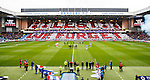 Rangers and Kilmarnock players join in a minutes silence at Ibrox for Remembrance