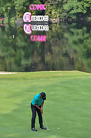 Shubhankar Sharma (IND) sinks his birdie putt on 17 during round 2 of the World Golf Championships, Mexico, Club De Golf Chapultepec, Mexico City, Mexico. 3/2/2018.<br /> Picture: Golffile | Ken Murray<br /> <br /> <br /> All photo usage must carry mandatory copyright credit (&copy; Golffile | Ken Murray)