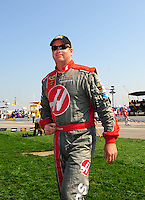 Sept. 28, 2008; Kansas City, KS, USA; Nascar Sprint Cup Series driver Tony Raines prior to the Camping World RV 400 at Kansas Speedway. Mandatory Credit: Mark J. Rebilas-