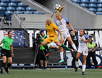 Seattle, WA - Thursday July 27, 2017: Tameka Butt, Allie Long during a 2017 Tournament of Nations match between the women's national teams of the United States (USA) and Australia (AUS) at CenturyLink Field.