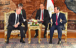 Egyptian President Abdel-Fattah al-Sisi meets with his visiting counterpart Vladimir Putin in Cairo, Egypt, on Dec. 11, 2017. Photo by Egyptian President Office