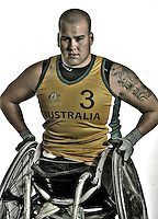 Ryley Batt (AUS)<br /> Paralympic Portraits -  Wheelchair Rugby<br /> Sydney Australia 2012<br /> London 2012 Paralympic Games<br /> &copy; Sport the library / Jeff Crow