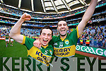 Paul Murphy and Bryan Sheehan. Kerry players celebrate their victory over Donegal in the All Ireland Senior Football Final in Croke Park Dublin on Sunday 21st September 2014.