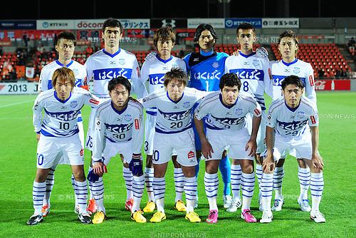 Ventforet Kofu team group line-up,.APRIL 10, 2013 - Football / Soccer :.2013 J.League Yamazaki Nabisco Cup Group A match between Omiya Ardija 1-3 Ventforet Kofu at NACK5 Stadium Omiya in Saitama, Japan. (Photo by AFLO)