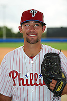 Philadelphia Phillies pitcher Skylar Hunter (51) poses for a photo after an instructional league game against the Toronto Blue Jays on September 28, 2015 at Englebert Complex in Dunedin, Florida.  (Mike Janes/Four Seam Images)