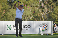 Bubba Watson (USA) watches his tee shot on 18 during round 3 of the World Golf Championships, Mexico, Club De Golf Chapultepec, Mexico City, Mexico. 3/3/2018.<br /> Picture: Golffile | Ken Murray<br /> <br /> <br /> All photo usage must carry mandatory copyright credit (&copy; Golffile | Ken Murray)