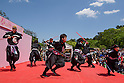 Chris O'Neill, MAY 5, 2016 - American Chris O'Neill (far left), the first foreign full-time salaried ninja in Japan, performs with his Japanese colleagues during an event at Nagoya Castle in Nagoya, Aichi Prefecture, Japan. O'Neill joins six Japanese ninjas hired by Aichi Prefecture to promote tourism in the region.<br /> <br /> O'Neill said being a ninja was a lifelong dream. &quot;My personal goal is to protect the weak, defend the innocent, and be a guardian for those who need a guardian,&quot; he said in response to a reporter's question.<br /> <br /> O'Neill added that he was proud to perform alongside his six Japanese colleagues. &quot;We're writing the next chapter of ninja history. We're the next generation of ninja.&quot; (Photo by Ben Weller/AFLO) (JAPAN) [UHU]