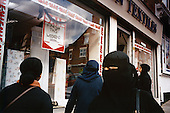 Muslim women in veil and headscarves stroll a street in Leicester in a Muslim neighbourhood. ..Leicester is expected to be the first city in the UK to have a majority non-white population within the next few years. It is one of the most ethnically-diverse cities in Europe. ....Picture taken April 2005 by Justin Jin