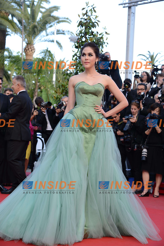 Araya Hargate .Cannes 21/5/2013 .66mo Festival del Cinema di Cannes 2013 .Foto Panoramic / Insidefoto .ITALY ONLY