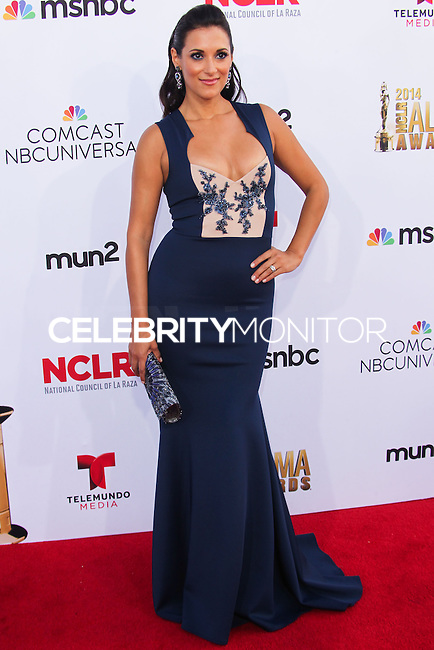 PASADENA, CA, USA - OCTOBER 10: Angelique Cabral arrives at the 2014 NCLR ALMA Awards held at the Pasadena Civic Auditorium on October 10, 2014 in Pasadena, California, United States. (Photo by Celebrity Monitor)