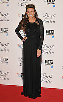 Elizabeth Chambers at the &quot;The Birth of a Nation&quot; 60th BFI London Film Festival Headline gala screening, Odeon Leicester Square cinema, Leicester Square, London, England, UK, on Tuesday 11 October 2016.<br /> CAP/CAN<br /> &copy;CAN/Capital Pictures /MediaPunch ***NORTH AND SOUTH AMERICAS ONLY***