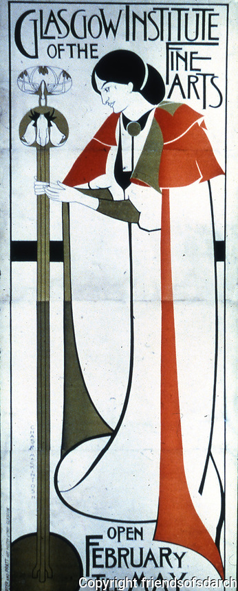 Mackintosh Collection: Hunterian Art Gallery, U. of Glasgow. Institute Poster c. 1894-96.