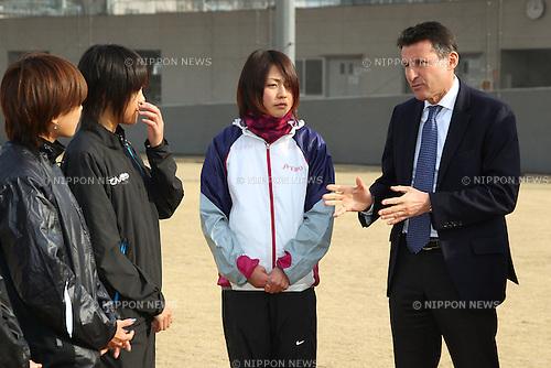 Sebastian Coe LOCOG Chairman, .February 28, 2012 - JOC : .Sebastian Coe LOCOG Chairman inspected NTC .at National Training Center, Tokyo, Japan. .(Photo by Daiju Kitamura/AFLO SPORT) [1045]
