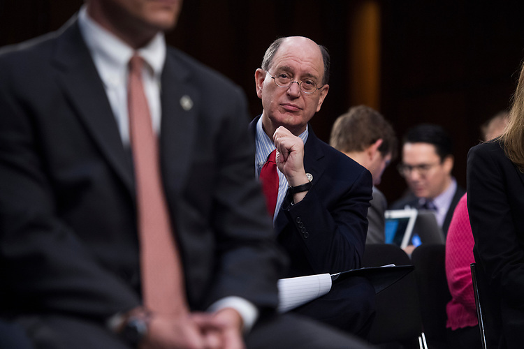 UNITED STATES - JUNE 8: Rep. Brad Sherman, D-Calif., attends a Senate Select Intelligence Committee hearing about Russian interference in the 2016 election featuring testimony by former FBI Director James Comey on June 8, 2017. (Photo By Tom Williams/CQ Roll Call)