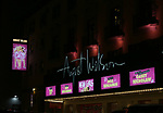 Theatre Marquee for the Broadway Opening Night Performance Curtain Call of 'Mean Girls' at the August Wilson Theatre on April 8, 2018 in New York City.